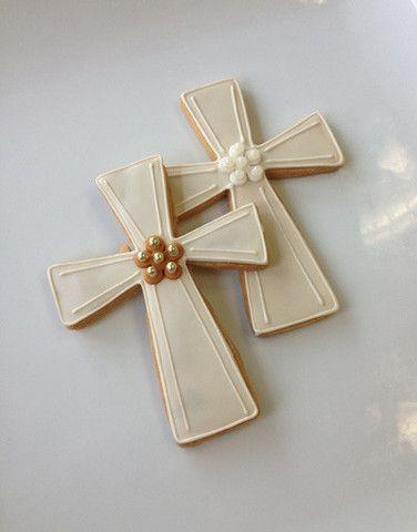Casue — Beaded Communion Cross Cookies