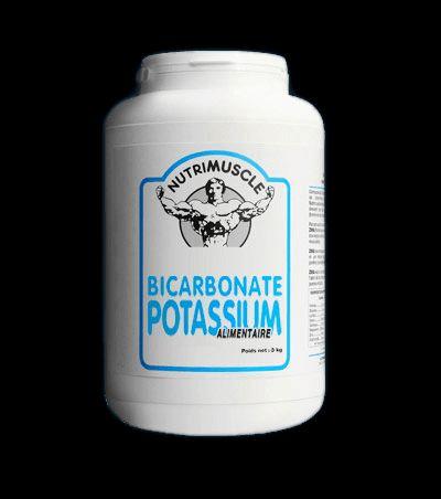 BICARBONATE DE POTASSIUM 3 KG Le BICARBONATE de POTASSIUM Nutrimuscle s'avère être le meilleur neutralisant d'acide, capable de rééquilibrer votre pH sanguin.