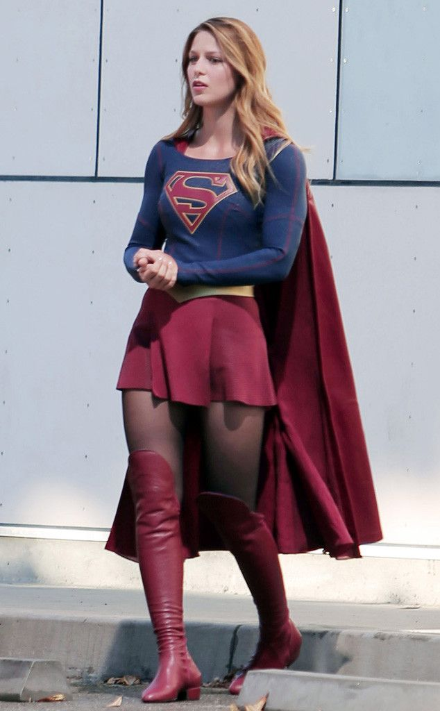 Melissa Benoist from The Big Picture: Today's Hot Pics  The actress appears on the set of CBS' Supergirl in L.A. (See more pics of celebs on TV show sets.)
