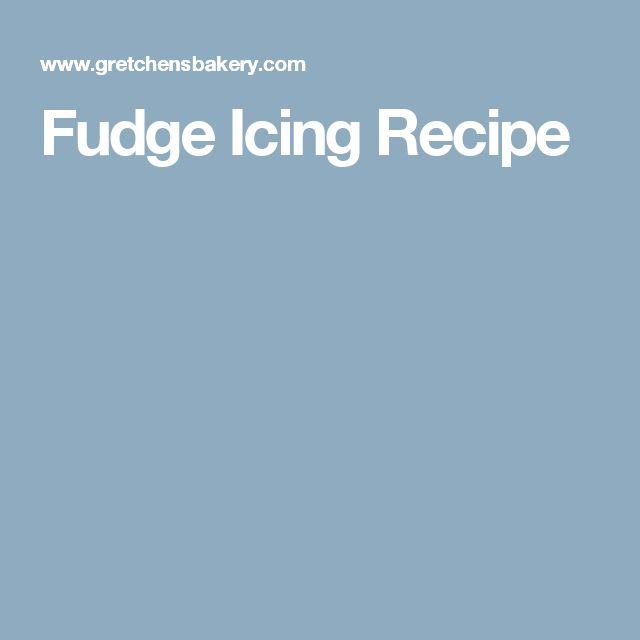 Fudge Icing Recipe