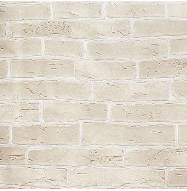 Thick Heavy Vinyl Wall Paper Rustic Pattern Faux Textured Brick Wall Effect Wallpaper for Bedroom & Living room Red Brown