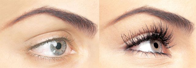 Before and After Mink Eyelashes and Lashe Eyelash Extensions