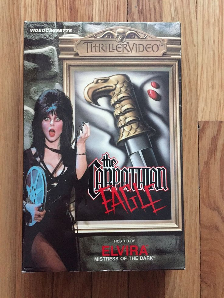 Elvira presents Carpathian Eagle (1980) Thriller Video VHS Big Box Horror Hammer