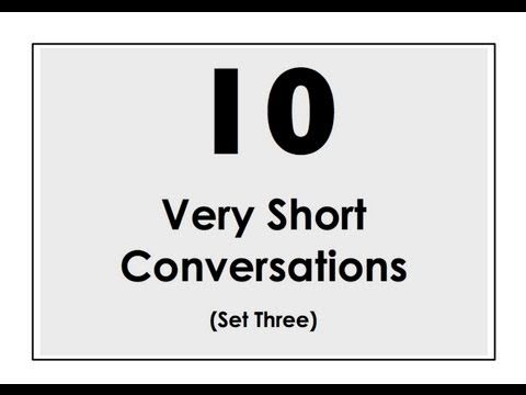 10 Very Short Conversations | Set Three | Easy English Conversation Practice | ESL - YouTube