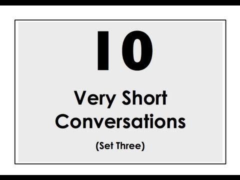 10 Very Short Conversations | Set Three | Easy English Conversation Practice | ESL - YouTube