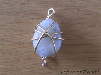 Tutorial: How to wire pendants and crystal rocks #jewelry #diy #handmade #c …   – Rock