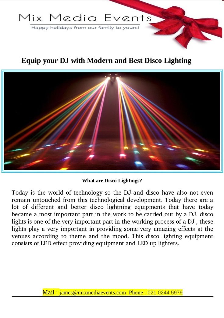 Disco lighting is one of our specialities here at Mix Media Events. We are pleased to be Auckland's disco lighting sales reps of choice. We also ship New Zealand wide. We are proud distributors of selected Chauvet & Iluminarc disco lighting...