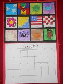 Christmas calendar - great parent gift. From Mrs. T's First Grade Class-do with finger print art
