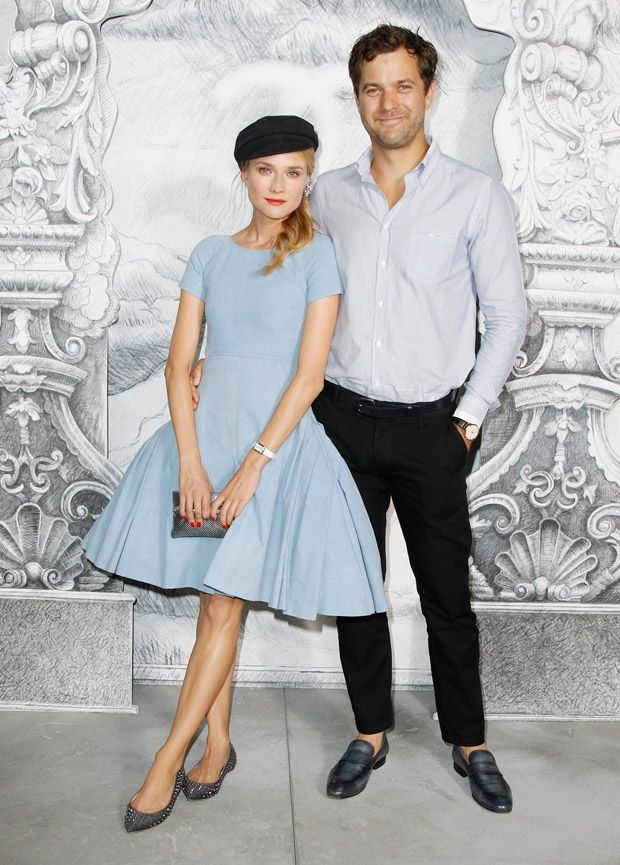 Diane Kruger in a blue Chanel dressJoshua Jackson, Fashion Clothing, Style, Red Carpets, Front Row, Couture Fashion, Chanel Haute, Haute Couture, Diane Kruger