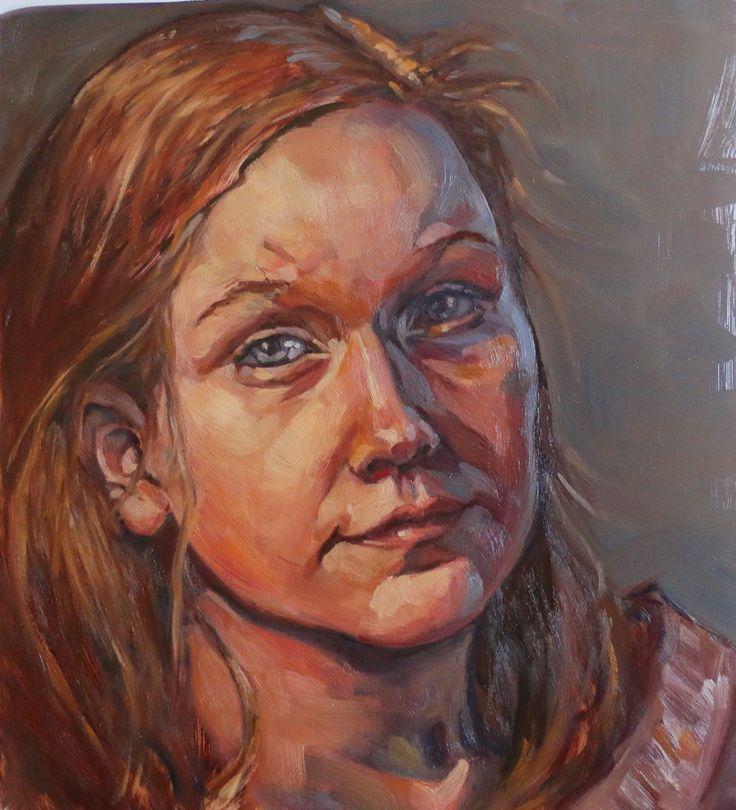 """Maggi - oil on Terraskin. 12"""" x 14"""" #painting #fineart #verityblue #KathrynKaiser #artistatlarge"""