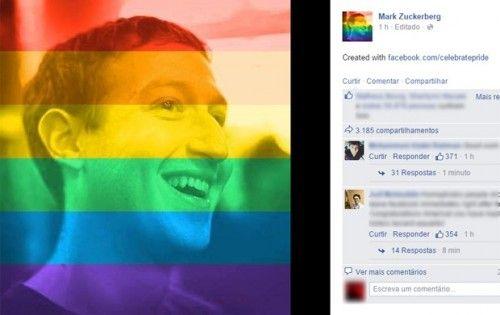 Saiba como Deixar sua Foto do Perfil Facebook Com as Cores do Arco-Íris. #arco-iris #facebook #casamen togay #foto  #perfil