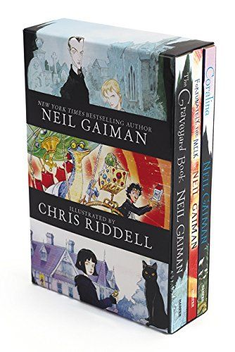 Neil Gaiman/Chris Riddell 3-Book Box Set: Coraline; The Graveyard Book; Fortunately, the Milk by Neil Gaiman http://www.amazon.com/dp/0062379828/ref=cm_sw_r_pi_dp_miIUvb1P6M6MF