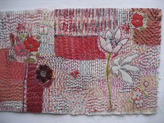 Tricia Warman - kantha stitching