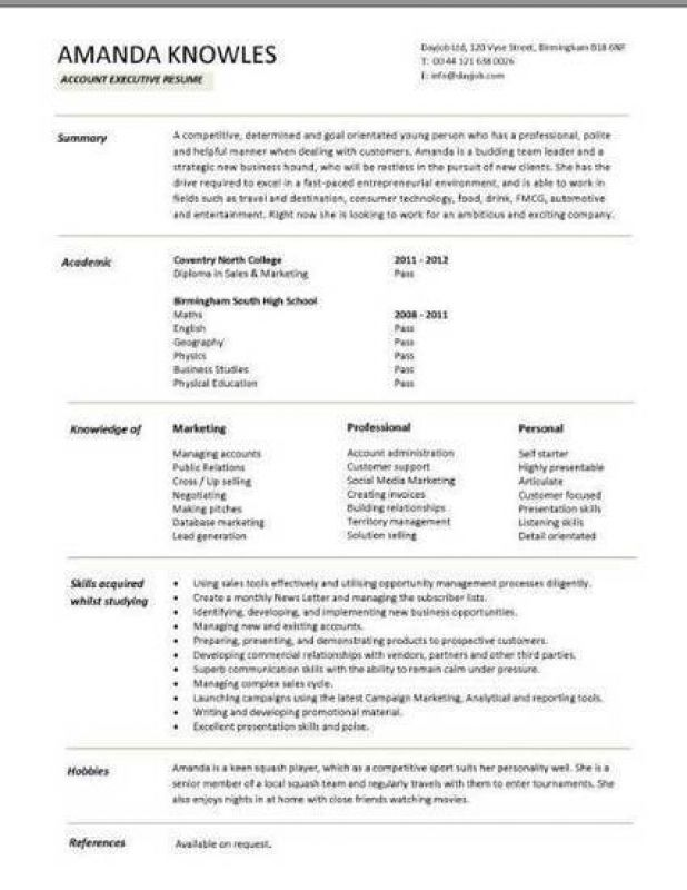 Libreoffice Student Resume Template Executive Resume Template