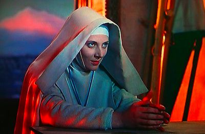 Sister Ruth just starting to warm-up in The Black Narcissus