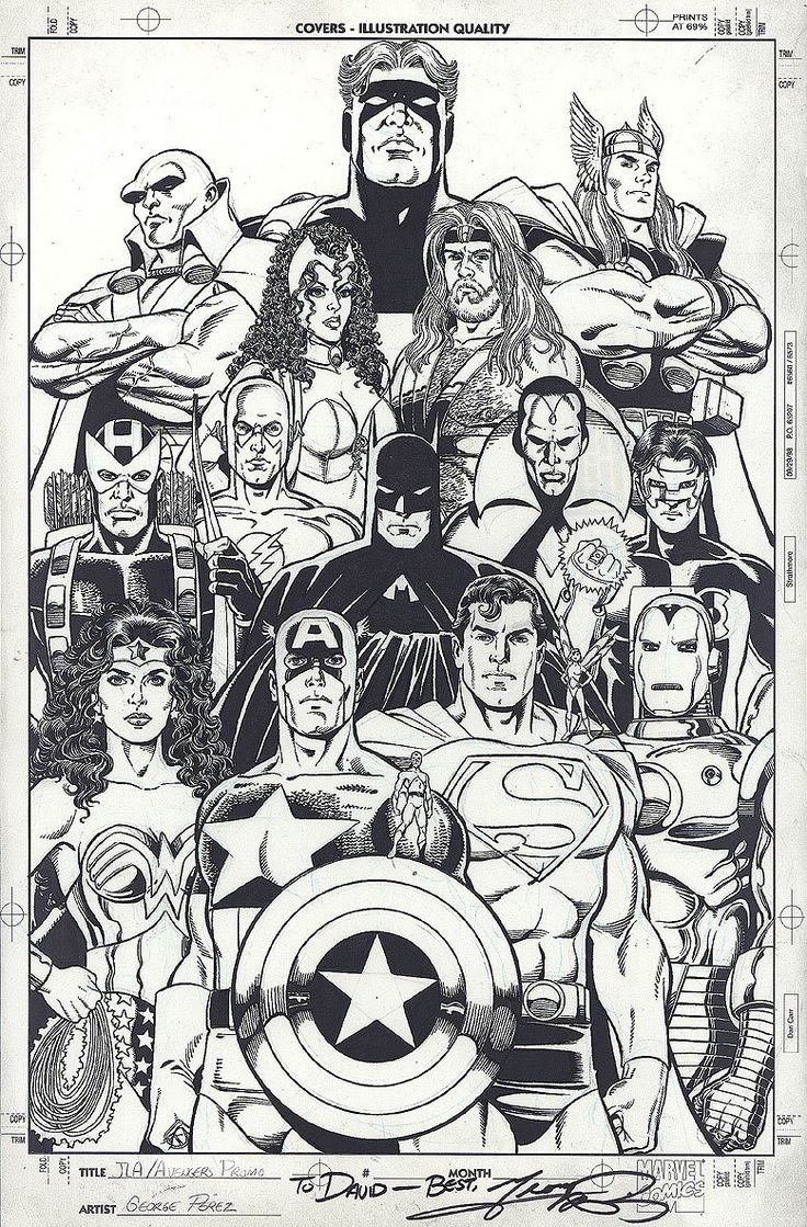 comic book character coloring pages - photo#21