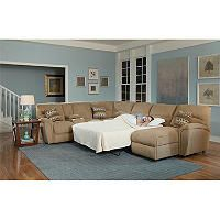 Lane Furniture Robert 4-Piece Reclining Sectional Sofa with Chaise and Sleeper - Sam's Club