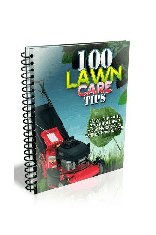 """""""100 Lawn Care Tips"""" covers 100 quick to the point lawn care tips. <p>Some of which include:<br>* Know the costs of caring for your lawn <br>* Learn how to improve the condition of your soil<br>* Test your lawn's soil for its pH<br>* The process of aerati"""