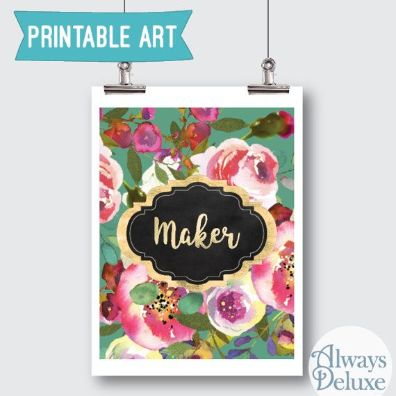 Downloadable Art Maker 8x10inches by AlwaysDeluxe on Etsy