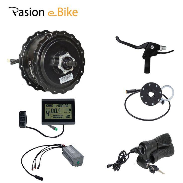 PASION E ROWER 48 V 500 W 750 W Wodoodporny Roweru Tłuszczu eBike Konwersji Zestaw BAFANG 190 MM Piasty Silnika 25A Złącze Wyświetlacz LCD