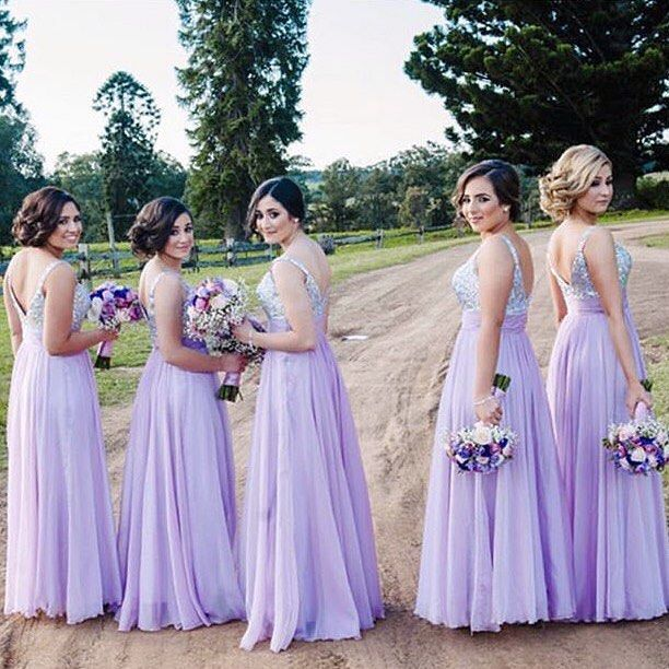Ladies in lavender 💜 #bridemaids #weddingstyle #lafemmefashion • La Femme style 16802  #lafemme #fashion #instafashion #style #instastyle #purple #bridemaid #maidofhonor #gorgeous #weddinghair #weddingmakeup #summer #beauty #promdress #flowers #loveit