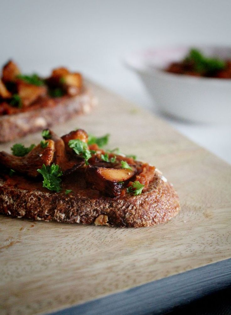 Bruschetta with chanterelles — For the love of pie