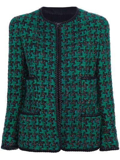 CHANEL VINTAGE Casaco Vintage Verde.
