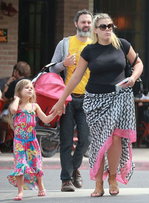 Busy Philipps & Family Lunch At Little Dom's with daughter Cricket in an @Orbit Baby carrier!