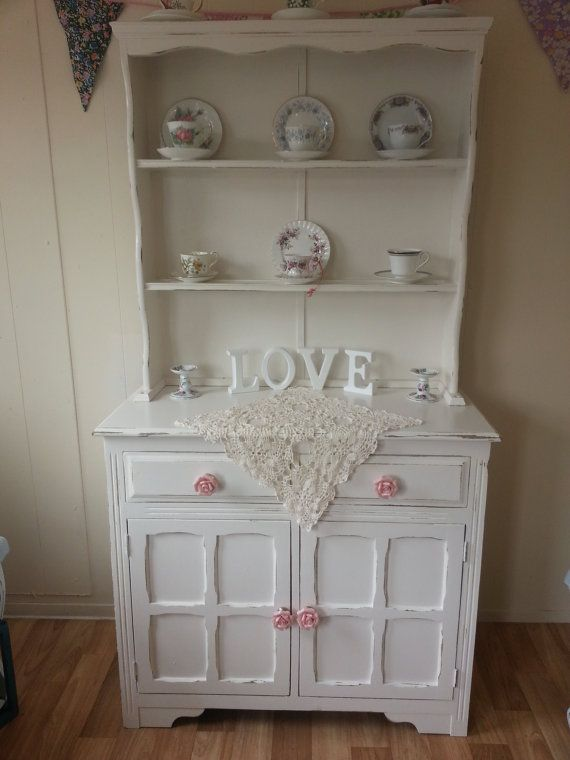Divine Shabby Chic Welsh Dresser in Subtle Ivory