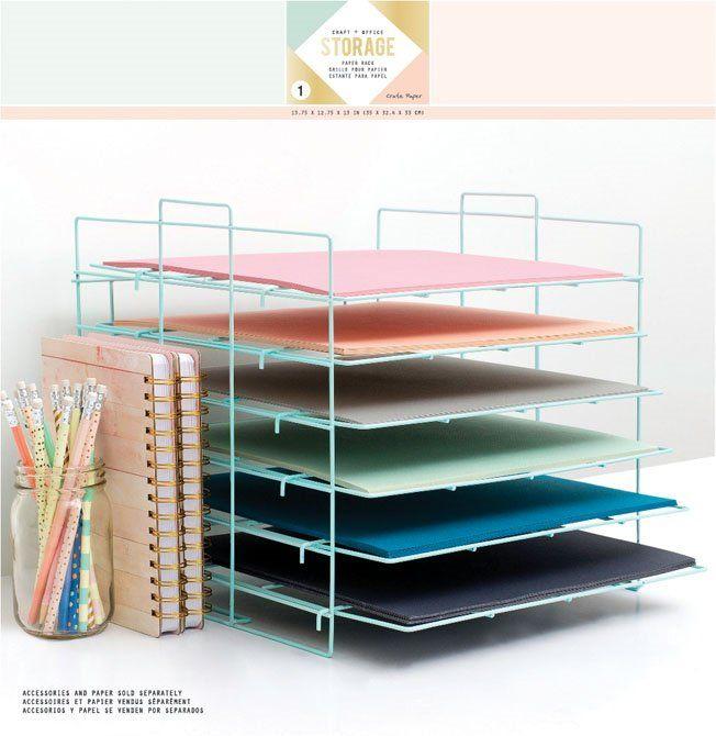 Crate Paper - Desktop Storage - Paper Rack at Scrapbook.com