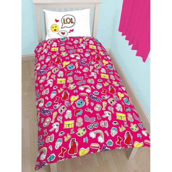 Bratz sengetøj med Jade, Cloe, Sasha, Yasmin og Raya