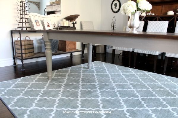 My New Dining Room Rug {Plus Mohawk Rug Giveaway!} - Love this rug!