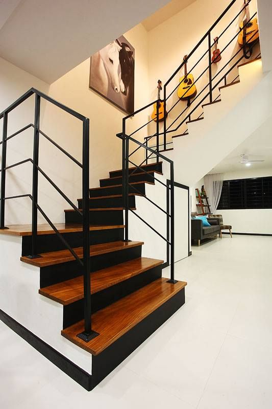 Hdb staircase singapore maisonette interior design finelinedesignstudio fineline design - Ideal staircase ideas small interiors ...