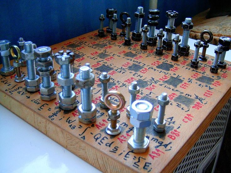 DIY Nuts and Bolts Chess Set