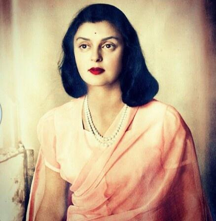 One of my favorite pictures of Maharani Gayatri Devi. Real beauty <3 - Simran