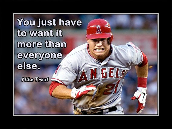 Baseball Motivation Mike Trout Angels Photo Quote by ArleyArt