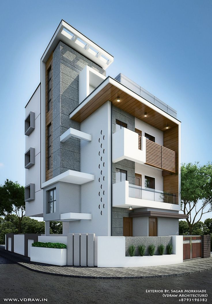 Exterior By Sagar Morkhade Vdraw Architecture 8793196382: 63 Awesome Tropis Decoration For Your Apartment