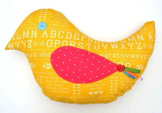 Bird cushion or toy by ietsvanwiets on Etsy, €15.00