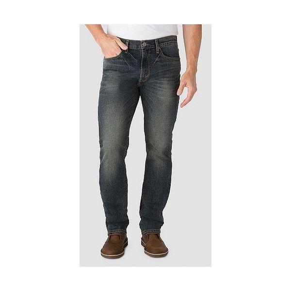 Denizen from Levi's Men's Slim Straight Fit Jeans  Grey Peak 33X32,... ($30) ❤ liked on Polyvore featuring men's fashion, men's clothing, men's jeans, blue, mens slim jeans, mens straight jeans, mens slim fit jeans, mens jeans and mens slim cut jeans