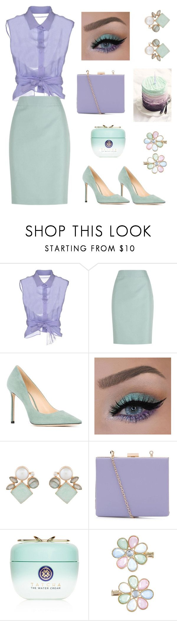"""Untitled 69"" by jaelclarice ❤ liked on Polyvore featuring Alberta Ferretti, Armani Collezioni, Jimmy Choo, Atelier Mon, Tatcha and Monsoon"