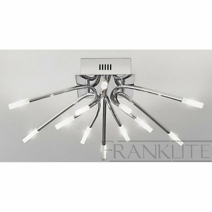 contemporary ceiling lights | Franklite FL2223/12 Kendo Modern Flush Ceiling Light