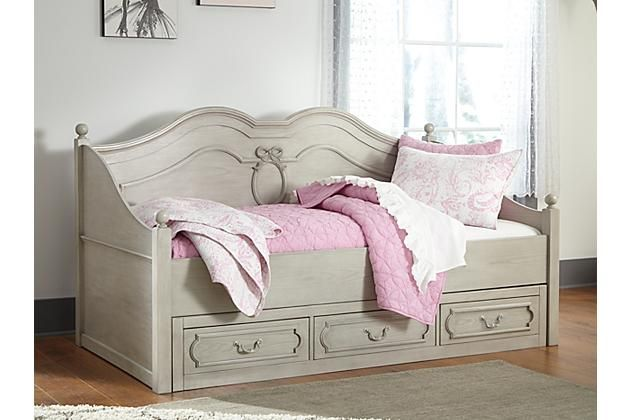 Gray Abrielle Twin Day Bed With Storage View 1