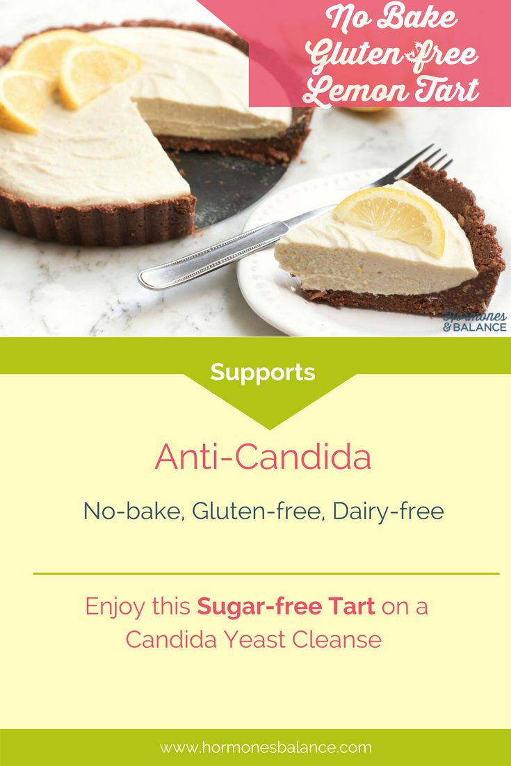 I hope you will love this sugar-free dessert. This creamy no-bake lemon tart is also gluten free, grain-free and has a delightful citrus flavor. Good to satisfy sugar cravings when on anti-Candida diet.