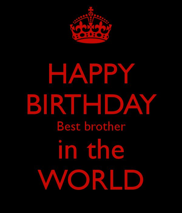 HAPPY BIRTHDAY Best brother in the WORLD