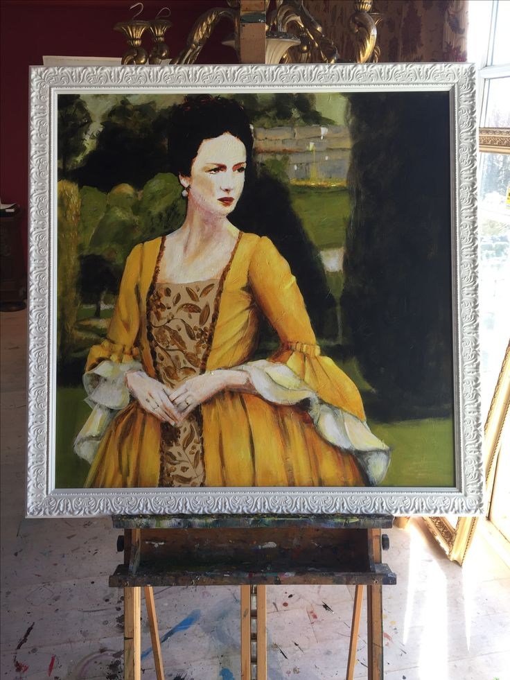 Portrait of Claire Fraser from the TV series Outlander