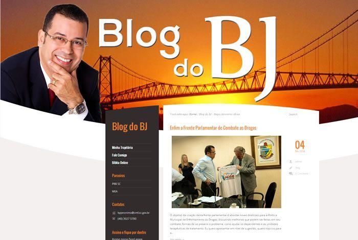 O Blog do BJ foi desenvolvido com o objetivo de divulgar ações sociais, leis, projetos e notícias relacionadas ao município de Florianópolis. Ele possui painel de gerenciamento de conteúdo e implementação de SEO (otimização de site para mecanismo de busca).