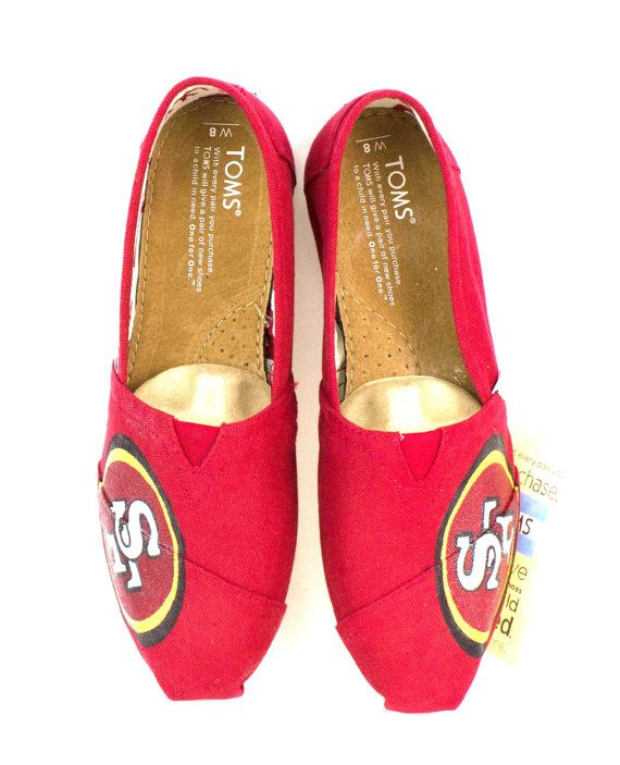 Customized San Francisco 49ERS  Toms by Artsysole45 on Etsy