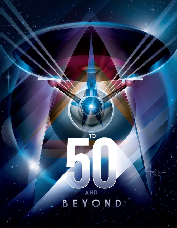 Star Trek 50 Anniversary | star trek_50 anniversary_Orlando Arocena_vector_2016