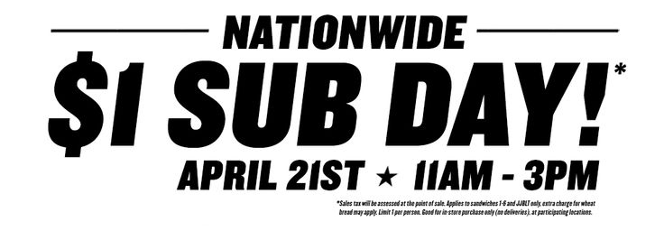 Best Deals for 4/21/16! Lots of great Customer Appreciation deals including $1 Jimmy John's & a rare Gander Mountain coupon, plus lots more!
