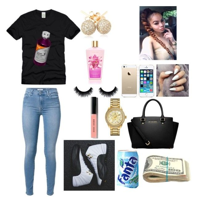 """Family Cookout Outfit"" by guapxgoddess ❤ liked on Polyvore featuring TAXI, Loushelou, Bobbi Brown Cosmetics, FingerPrint Jewellry, Bulova and MICHAEL Michael Kors"